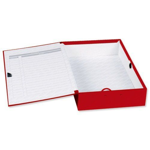 Image for Concord Classic Box File Foolscap Red PK5