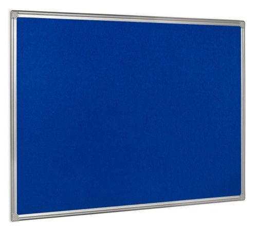 Bi-Office Maya Plastic Framed Blue Felt Board 60x45cm