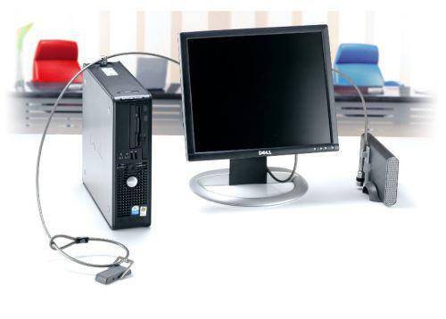Kensington Desktop PC Lock Kit with Cable 2.44m 3 Plates and Glue Ref K64615EU