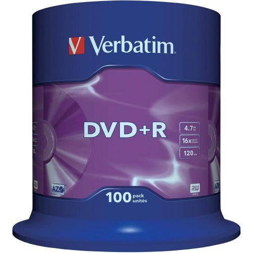 Verbatim DVD Plus R 100Pack Spindle Non Printable