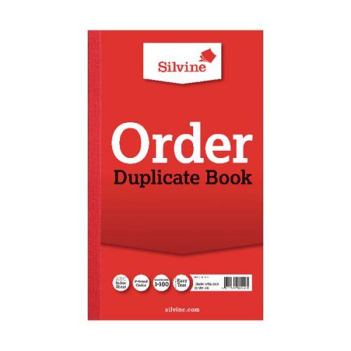 Silvine Duplicate Order Book 210x127mm PK6