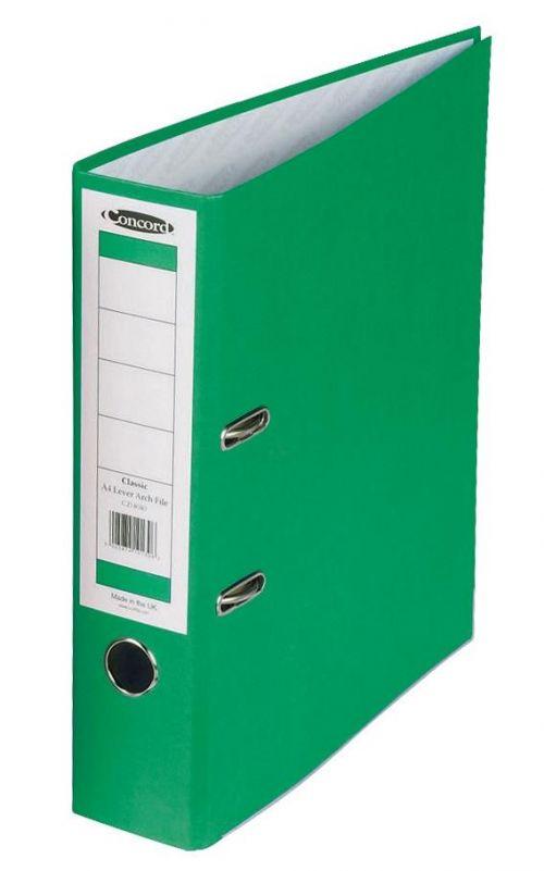 Concord Classic Lever Arch File A4 Green PK10