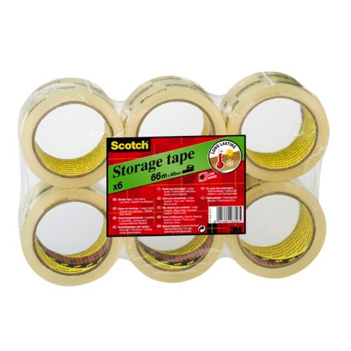Scotch Clear 50mmx66m Packaging Tape Pk6