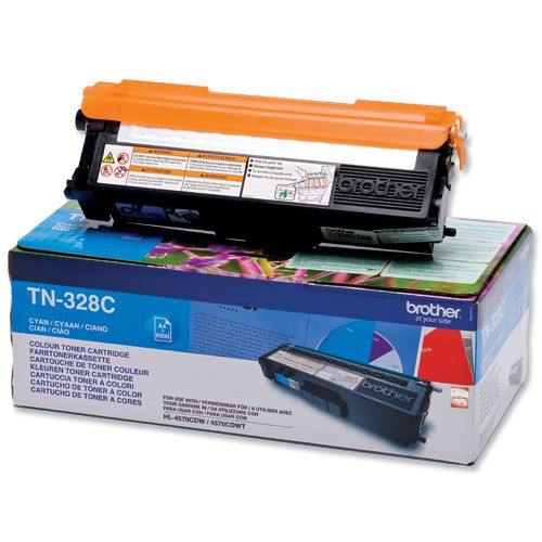 Brother TN328C Cyan Toner 6K