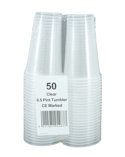 Plastic Half Pint Glass P50