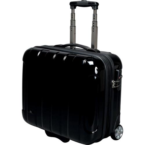 JSA Business Trolley Polycarbonate with Removeable Laptop Case Black