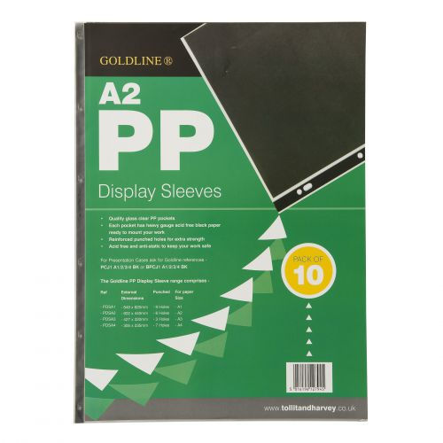 Goldline Polyprop Display Sleeves A2 6 Holes PDSA2Z (PK10)