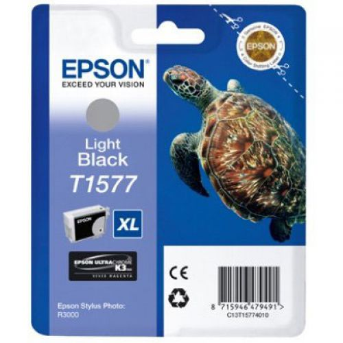 Epson C13T15774010 T1577 Light Black Ink 26ml