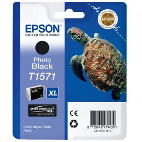 Epson C13T15714010 T1571 Black Ink 26ml