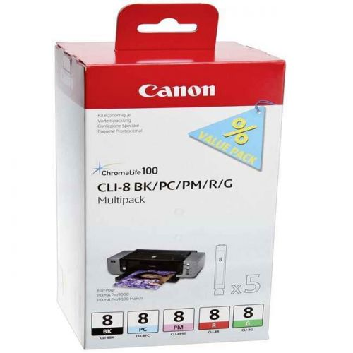 Canon 0620B027 CLI8 Black and Colour Ink 5x13ml Multipack