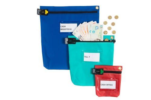 Versapak Cash Bag Tamper-Evident Zip Heavyweight Material Small W178xD50xH152mm Red