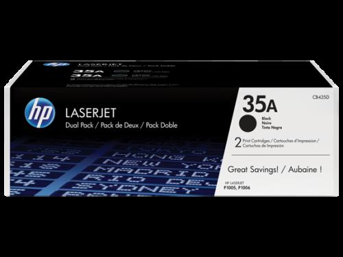 HP CB435AD 35A Black Toner 1.5K Twinpack