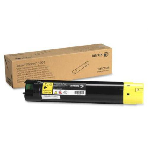Xerox 106R01509 (Yield: 12,000 Pages) High Yield Yellow Toner Cartridge