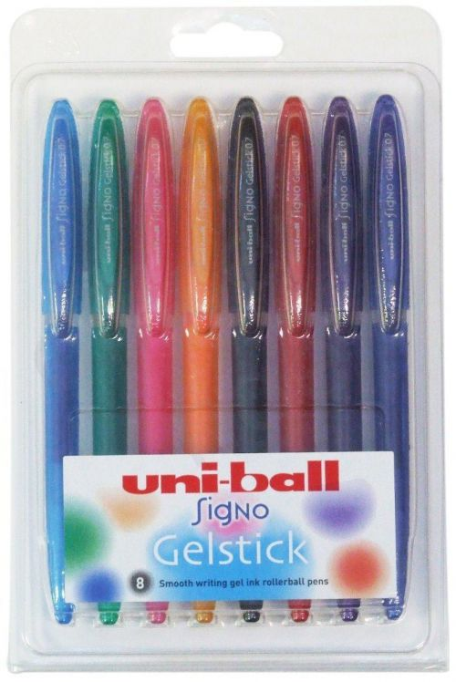 Uni-Ball Signo UM 170 Gelstick Rollerball  Assorted PK8