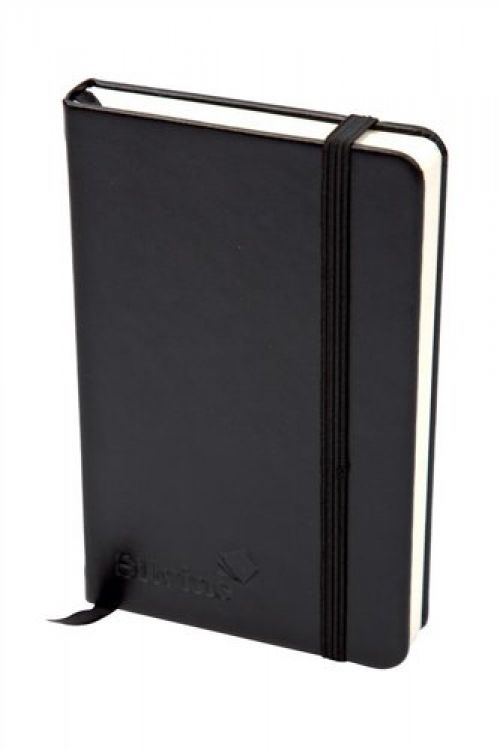 Silvine Executive Softfeel Notebook A5 Black