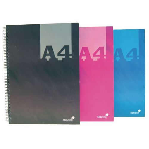 Silvine A4 Wirebound Notebook PK6