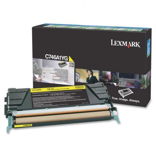 Lexmark C746A1YG Yellow Toner 7K