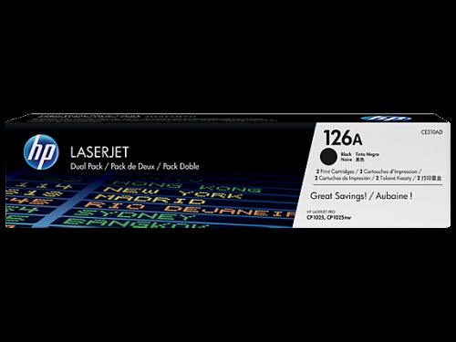 HP CE310AD 126A Black Toner 1.2K Twinpack