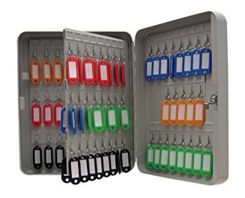 ValueX Key Cabinet Steel Grey Lock and Wall Fixings 160 Keys