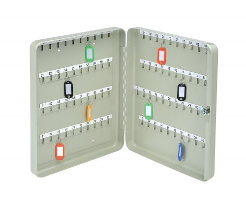 Value Key Cabinet Steel GY Lock and Wall Fixings 80 Keys
