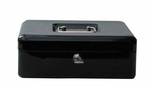 ValueX 30cm (12 Inch) Key Lock Metal Cash Box Black