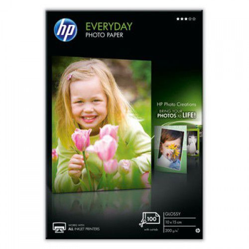 HP Everyday Glossy Photo Paper 100x150mm Pack of 100 CR757A