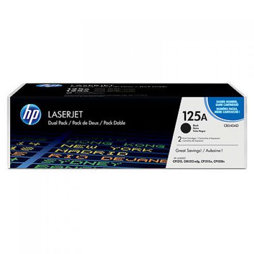 HP CB540AD 125A Black Toner 2.2K Twinpack