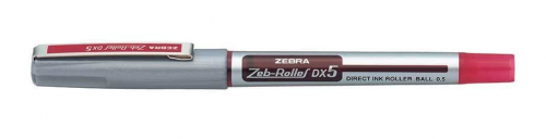Zebra DX5 Rollerball Liquid Ink Fine Needle Point Red PK10