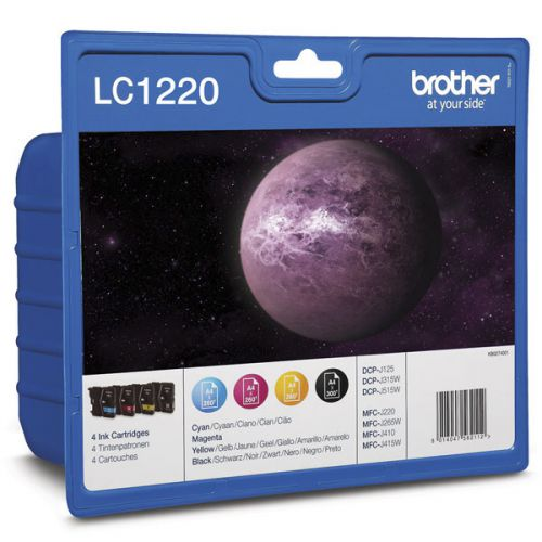Brother LC1220VALBP Black Colour Ink 8ml 3x5.5ml Multipack