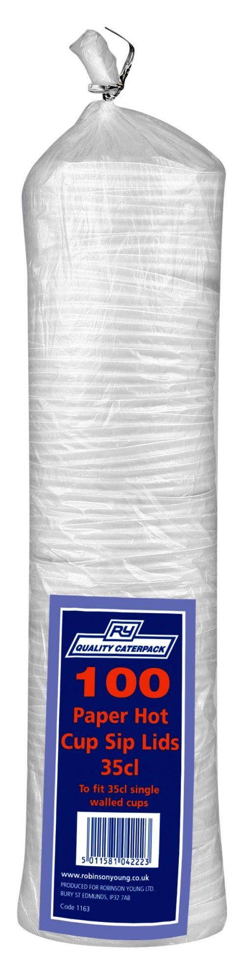 Caterpack Paper Cup Sip Lids 12oz (35cl) PK100