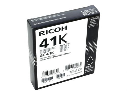 Ricoh 405761 GC41K Black Gel Ink 2.5K