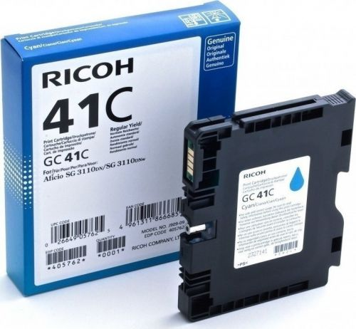 Ricoh 405762 GC41C Cyan Gel In k2.2K