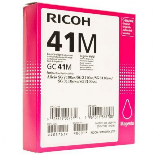 Ricoh 405763 GC41M Magenta Gel Ink 2.2K