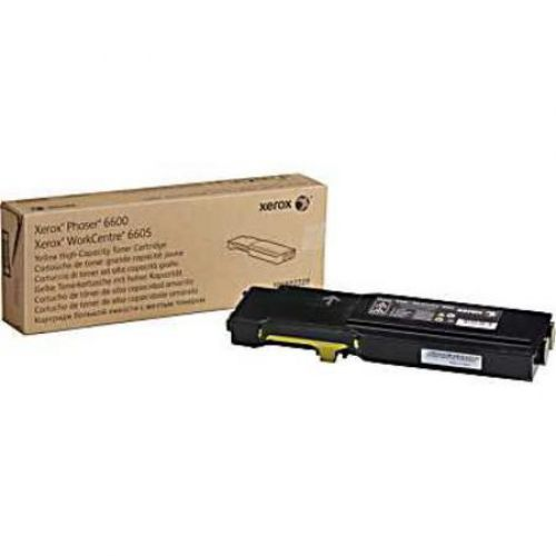 Xerox Yellow High Capacity Toner Cartridge 6k pages for 6600 WC6605 - 106R02231