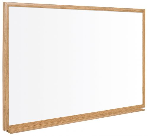 Bi-Office Earth-It Prime Enamel WTBoard Oak Frame 90x60cm