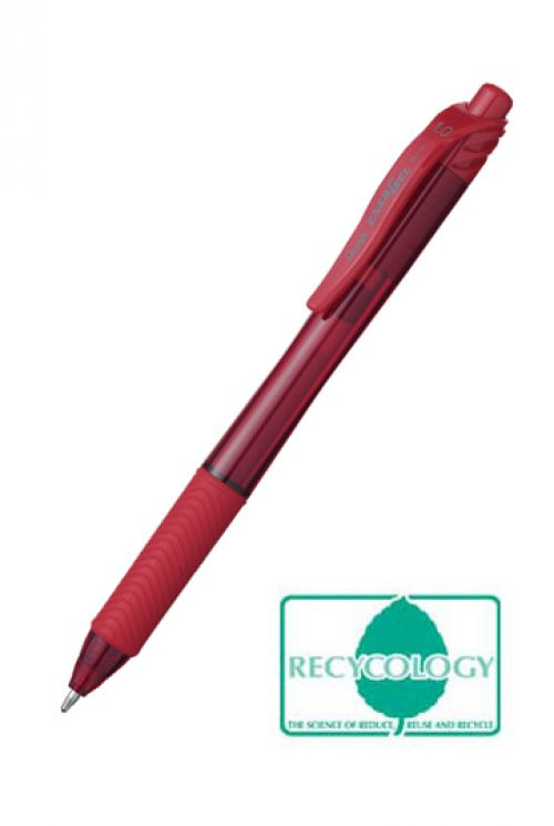 Pentel Energel X Gel Retractable 1.0mm Red (Pack 12)