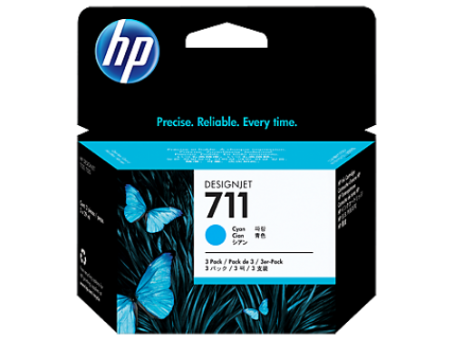 HP CZ134A 711 Cyan Ink 3x 29 ml Multipack