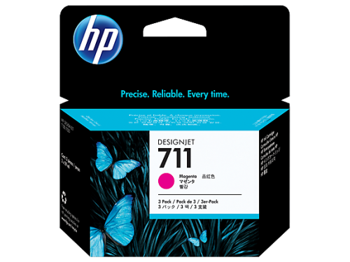 HP CZ135A 711 Magenta Ink 3x 29 ml Multipack