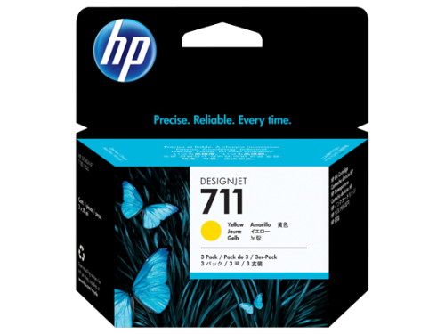 HP CZ136A 711 Yellow Ink 3x 29 ml Multipack