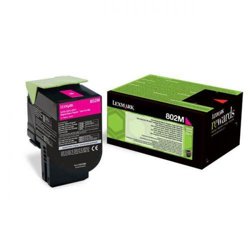 Lexmark 80C20M0 802M Magenta Toner 1K