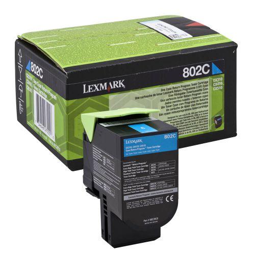 Lexmark 80C20C0 802C Cyan Toner 1K