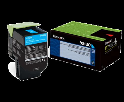 Lexmark 80C2SC0 802SC Cyan Toner 2K