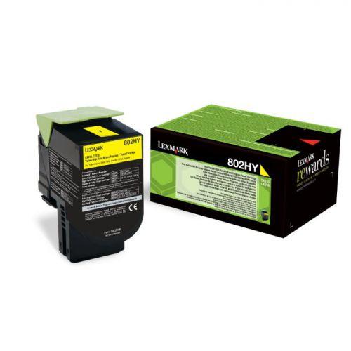 Lexmark 80C2HY0 802HY Yellow Toner 3K