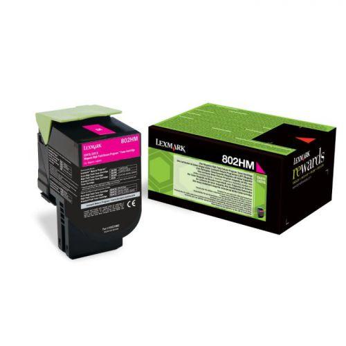 Lexmark 80C2HM0 802HM Magenta Toner 3K