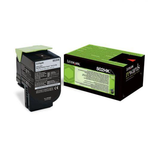 Lexmark 80C2HK0 802HK Black Toner 4K