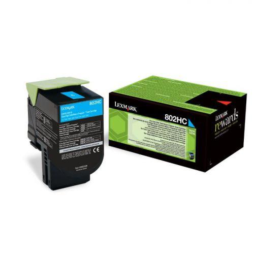 Lexmark 80C2HC0 802HC Cyan Toner 3K