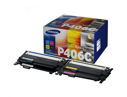 Samsung CLT P406C Black and Colour Toner 1.5K 3x 1K Multi
