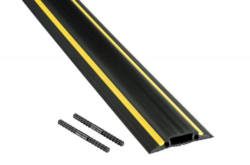 D-Line Medium Duty Cable Cover 1.8m Black & Yellow