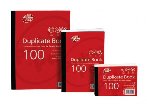 Value Duplicate Book Plain Ruled 216x130mm PK5