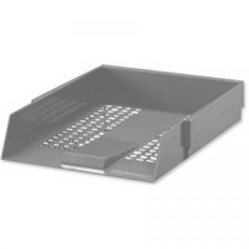 Value Deflecto Letter Tray Grey